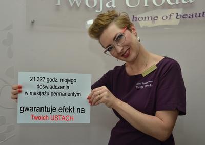 21 tys godzin doświadczenia makijażu permanentnym
